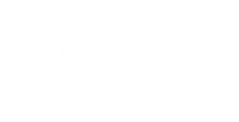 Ariel Fly Through Rainbow Station