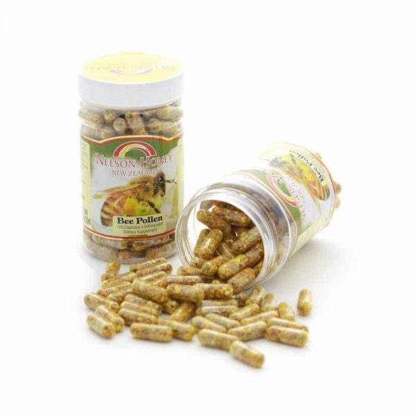 Nelson Honey Bee Pollen 125 Capsules
