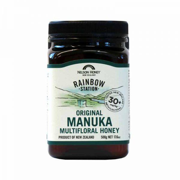 Rainbow Station Original Manuka Multifloral Honey 30+ Blend 500g